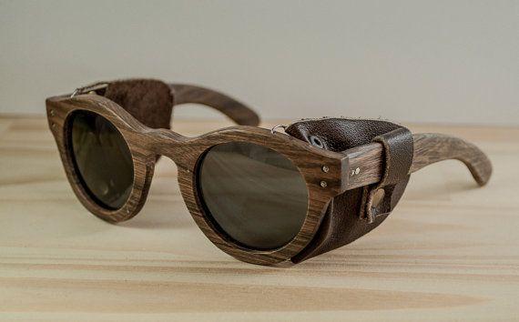 Gafas de sol de madera modelo Buenos Aires cuero gafas de sol