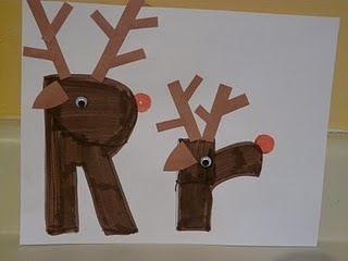 R is for reindeer.  Love it for ABC Center.