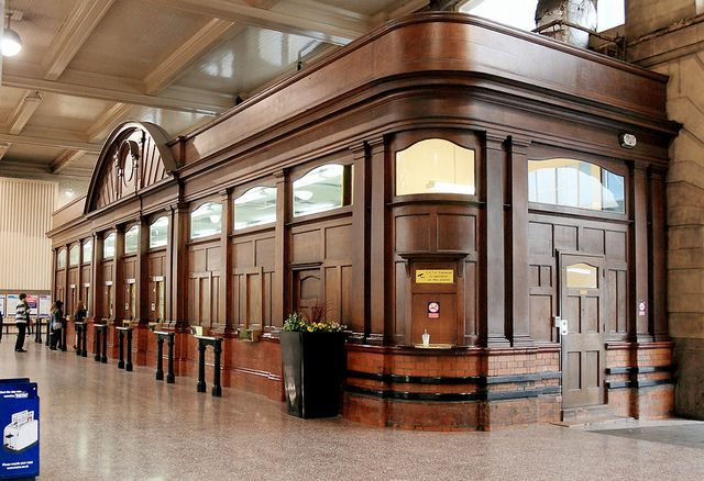 The old booking/ticket office, Victoria Railway Station, Manchester., via Flickr.