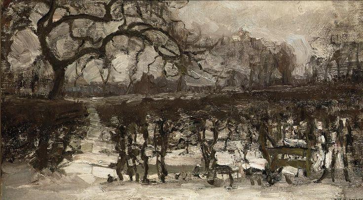 Piet Mondrian (1872-1944) Landscape with Apple Tree at Left. Winter Landscape, circa 1907