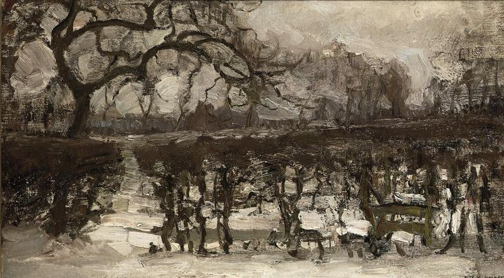 Piet Mondrian (1872-1944) Landscape with Apple Tree at Left. Winter Landscape, circa 1907