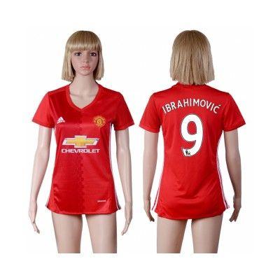 Manchester United Fodboldtøj Dame 16-17 Zlatan Ibrahimovic 9 Hjemmebanetrøje Kortærmet.  http://www.fodboldsports.com/manchester-united-fodboldtoj-dame-16-17-zlatan-ibrahimovic-9-hjemmebanetroje-kortermet.  #fodboldtrøjer