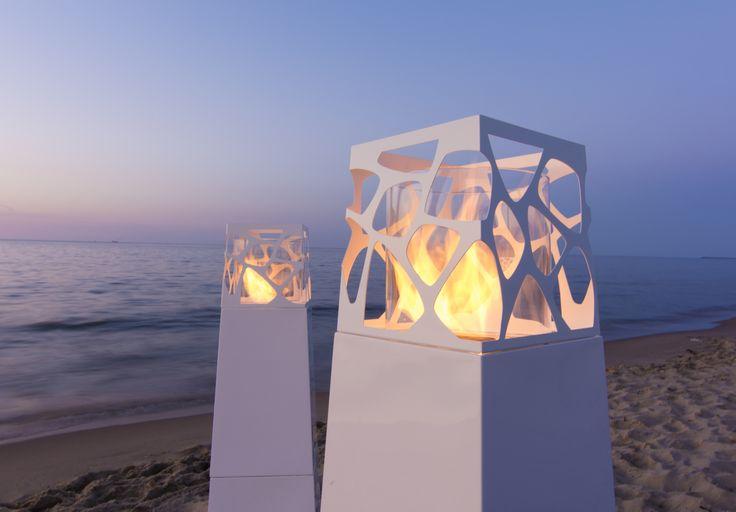 Portable Pyramid Commerce ethanol fireplace by Planika  www.planikafires.com