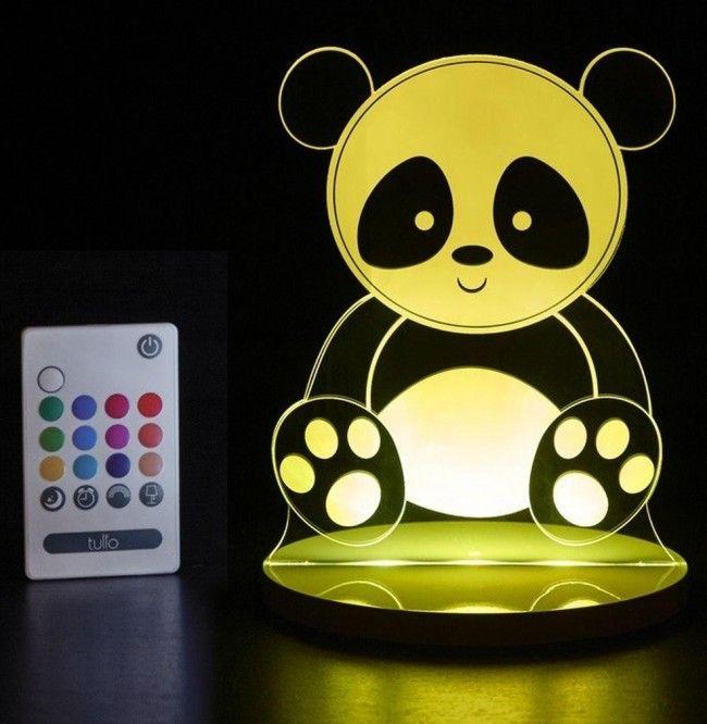 Veilleuse Led Multicouleurs Panda avec télécommande - Castello | Jeux et Jouets