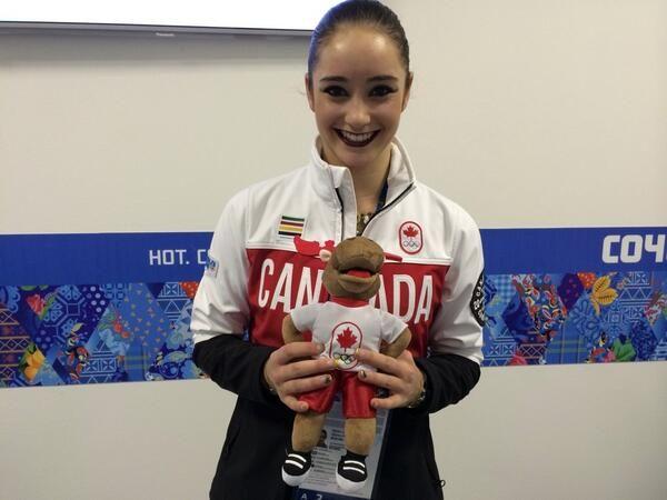 Kaetlyn Osmond and Komak Team Canada Sochi 2014