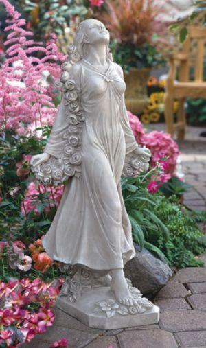 """Flora: Divine Patroness of Gardens"" statue from Design Toscano."