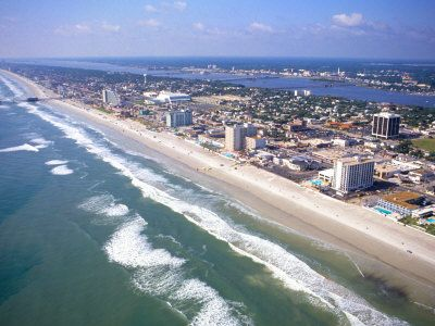 Daytona Beach, Florida.  I have been there a few times and absolutely love being by the ocean!!