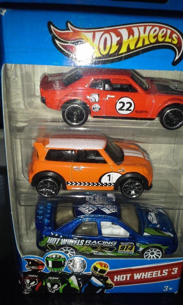 hot wheels 3 car set including orange morris mini cooper. Black Bedroom Furniture Sets. Home Design Ideas