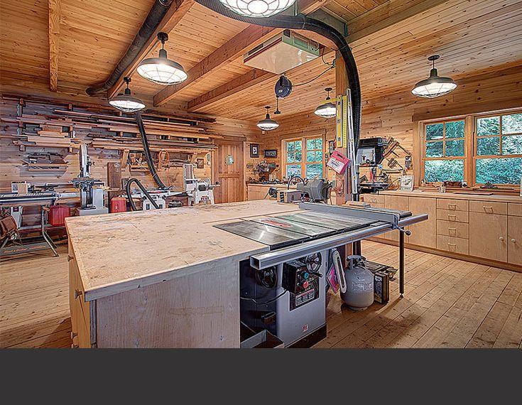 117 best images about workshops on pinterest for Garage shop layout
