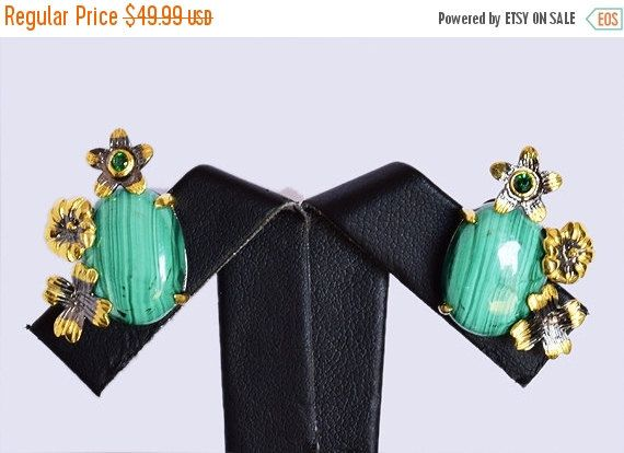 Awesome Malachite Gemstone Earring, Fashionable Jewelry, Designer Earring, Pure 925 Solid Sterling Silver Gemstone, INC-169