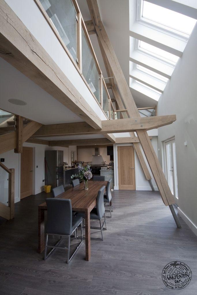 Light and airy modern oak framed houses by Carpenter Oak