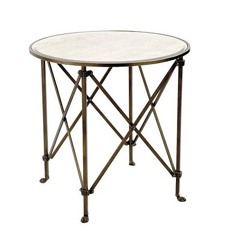 living room side table mfr ballard olivia 30 inch round mirrored side