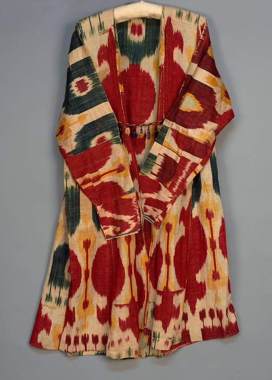 SILK IKAT COAT, 20th C.