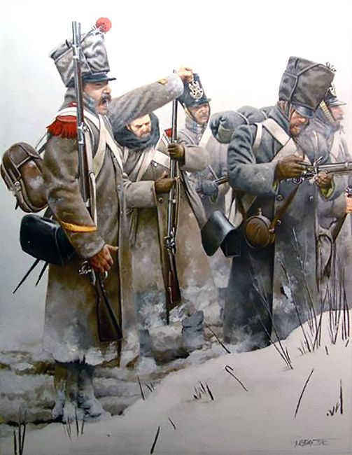 """3rd Croatian provisional regiment, 1812"", could depict any French Line Infantry Regiment in Tenue de Campagne with greatcoats worn post 1812"