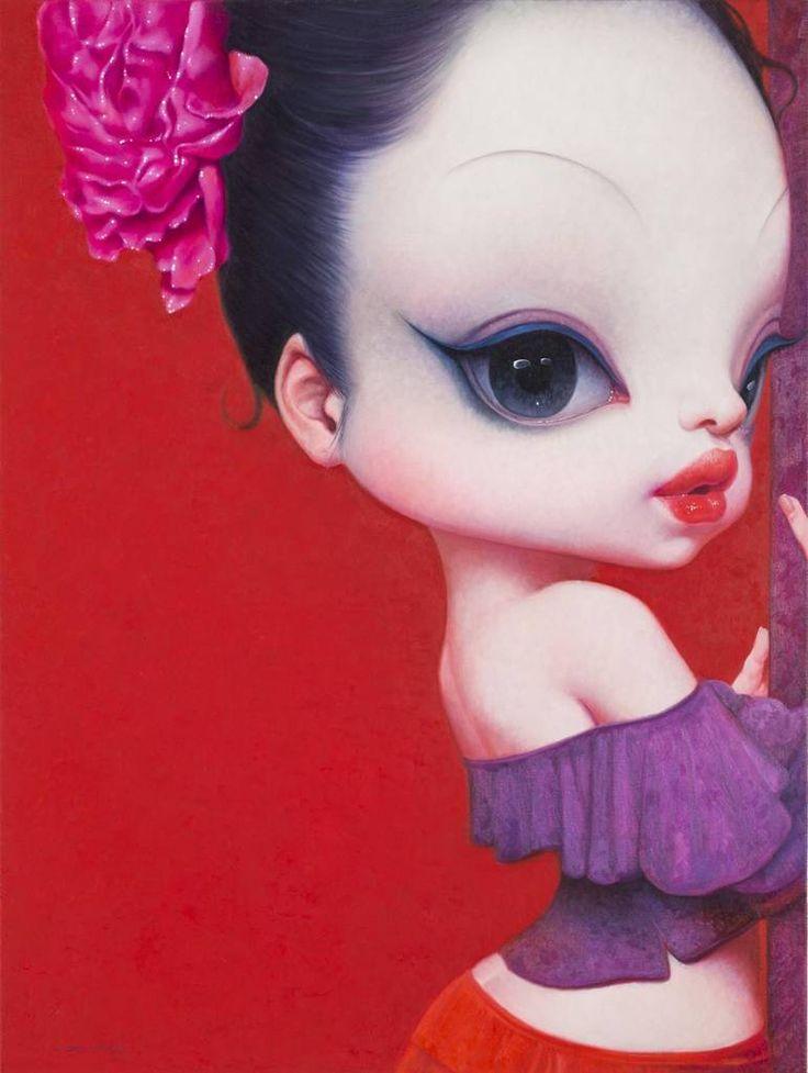 Wang Zhijie - Girl 13-3, 2013 (Oil on Canvas, 80x60cm), Asian Art Works Busan / Beijing (Μπουσάν, Κορέα)