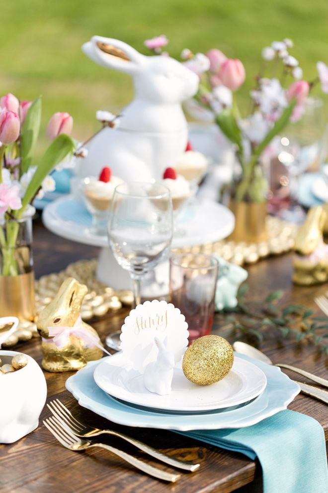 Gorgeous Rustic Chic Easter Brunch Tablescape