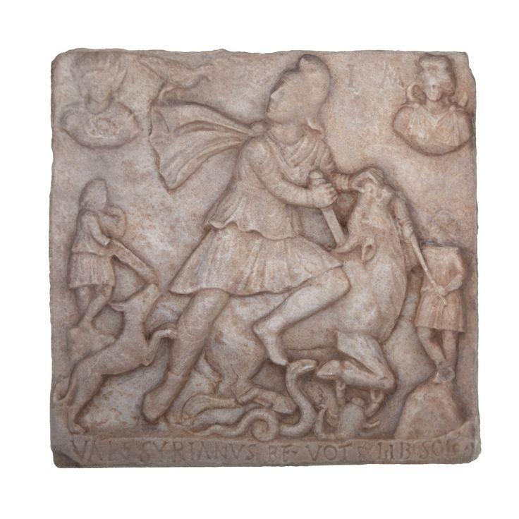 /Mitra zabijający byka, relief z kolekcji Muzeum Archeologicznego w Krakowie /The bull being killed by Mithra, the bas-relief from the collection of The Archaeological Museum in Kraków/