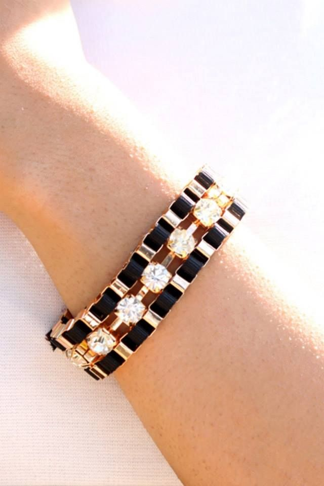 Shop on: http://www.lolascloset.in/accessories/glam-girl-black-woven-bracelet/p-7367768-34539002518-cat.html#variant_id=7367768-34539002518