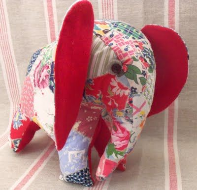 Free Patchwork Elephant Softie Downloadable Tutorial at Bustle & Sew.