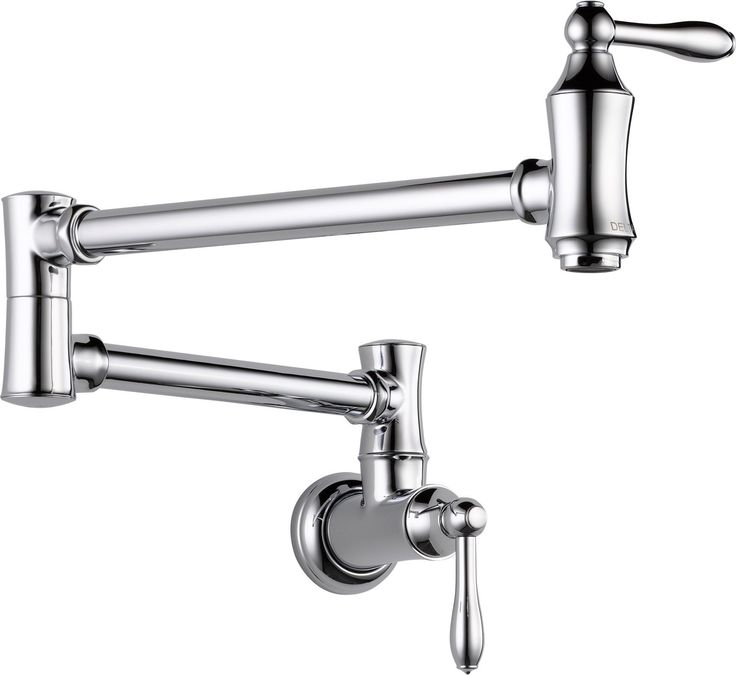 Cassidy Traditional Double Handle Wall Mount Pot Filler Faucet