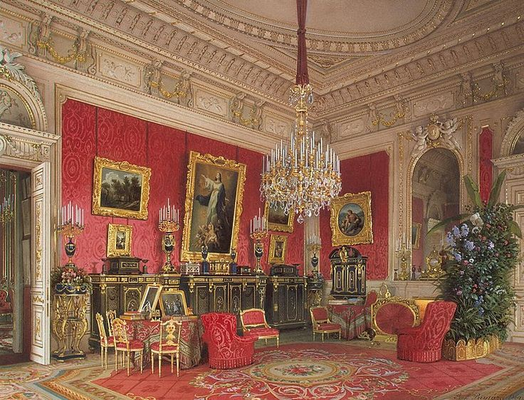 Luigi Premazzi  Interiors of the Winter Palace. The Study of Empress Maria Alexandrovna