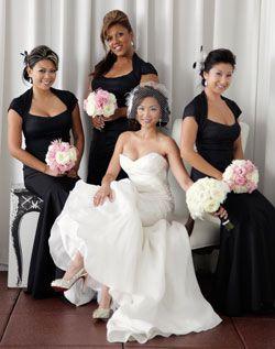 WeddingChannel Galleries: Black Bridesmaid Dresses