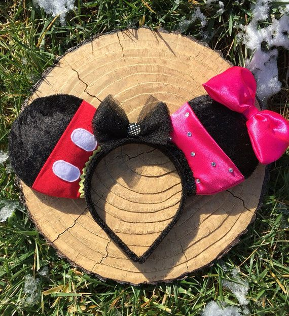 Mickey & Minnie Mouse Disney oren hoofdband  door ChaosAndCouture