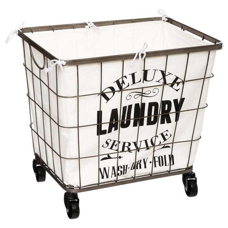 best 25 laundry basket on wheels ideas on pinterest industrial baskets wire laundry basket. Black Bedroom Furniture Sets. Home Design Ideas