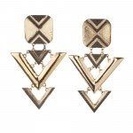 Triangle drop link earrings R130 Sass Diva