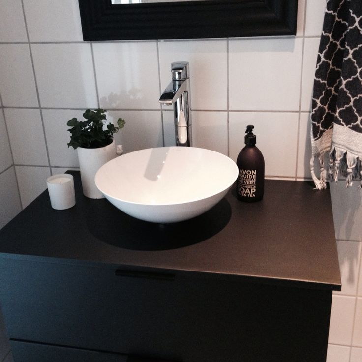 My bathroom Black and white