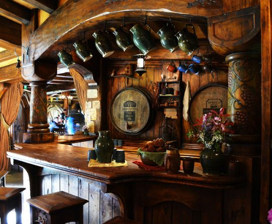Green Dragon Bar Hobbit House Hobbit Hole Cozy Cottage