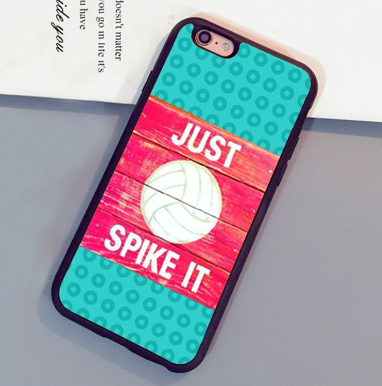 Pink Volleyball Quotes Printed Mobile Phone Cases For iPhone 6 6S Plus 7 7 Plus 5 5S 5C SE 4S Soft Rubber Skin Back Cover Shell