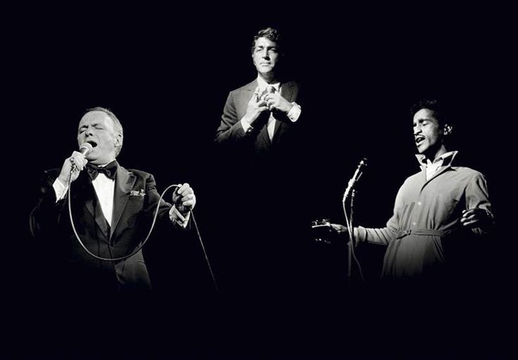 Title: Frank Sinatra-Rat Pack Caption: The Rat Pack: From left to right, three of the world's greatest singers, Frank Sinatra (1915 - 1998), Dean Martin (1917 - 1995) and Sammy Davis, Jr (1925 - 1990)   Artist: Terry O'Neill
