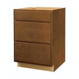 Diamond Now Weyburn 24-In W X 35-In H X 23.75-In D Brown Drawer Base Cabinet G13 Db24