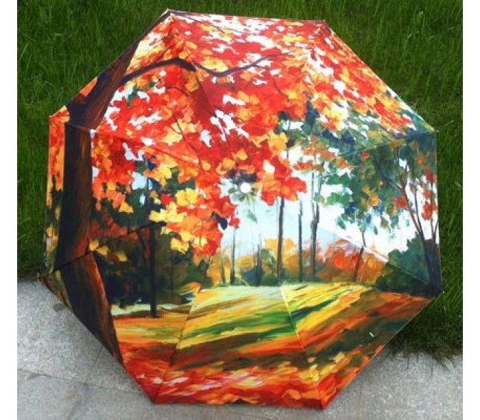 Магазин ЗОНТИК :: дерево Феникс бесплатная анти-уф солнце импрессионизм дождь для мода искусство доставка трава зонт маслом раза