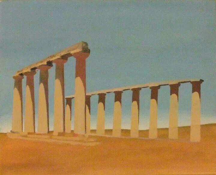 #art #Acrylic on canvas - Colonne di Metaponto ( #Matera - Italy) by Giovanni De Bari