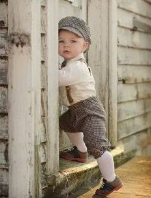 James needs this!!! Brown Checked 5 pc Boy's Knicker Set at DapperLads