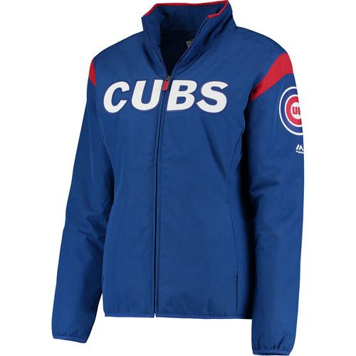 Women's Chicago Cubs Majestic Royal On-Field Thermal Jacket