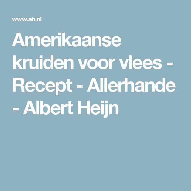 Amerikaanse kruiden voor vlees - Recept - Allerhande - Albert Heijn