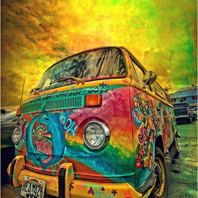 VWBuses, Time Travel, Colors, Vw Bus, Roads Trips, Hippie Art, Hippie Life, Vw Vans, Volkswagen