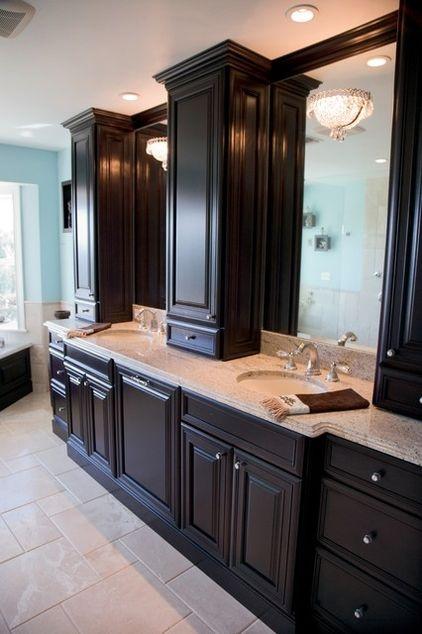 Bathroom Mirror Upgrade With Custom Built Ins And Crown Molding Via Google Com