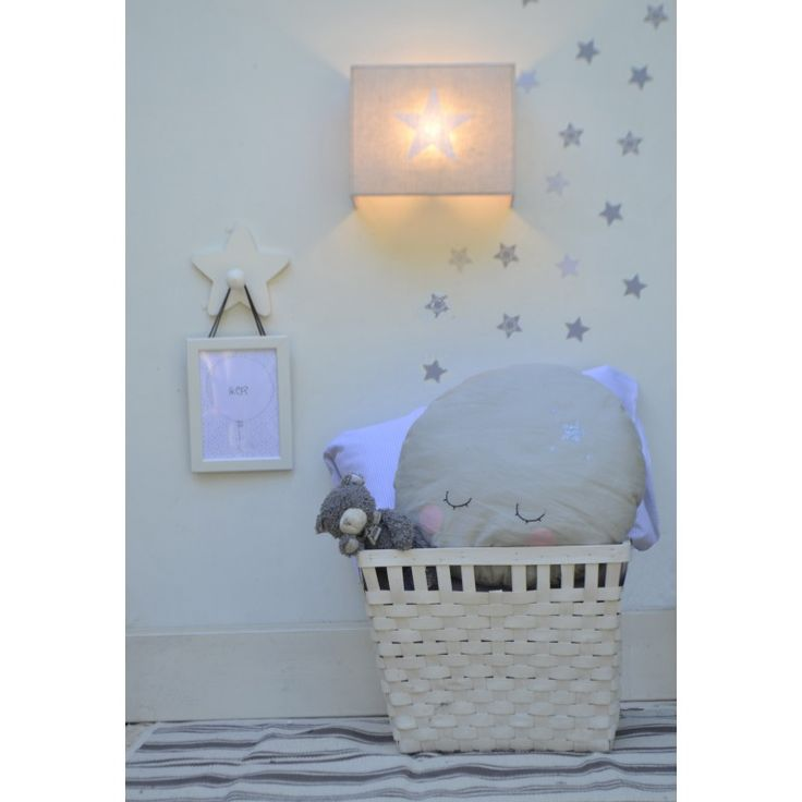 l mpara infantil de pared estrella aplique applique murale toile start wall lamp sconce. Black Bedroom Furniture Sets. Home Design Ideas