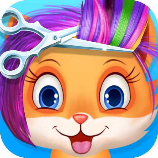 Animal and Pet Hair Salon : hairdresser, makeup and dress up for animals - game for kids and little girls ! FREE