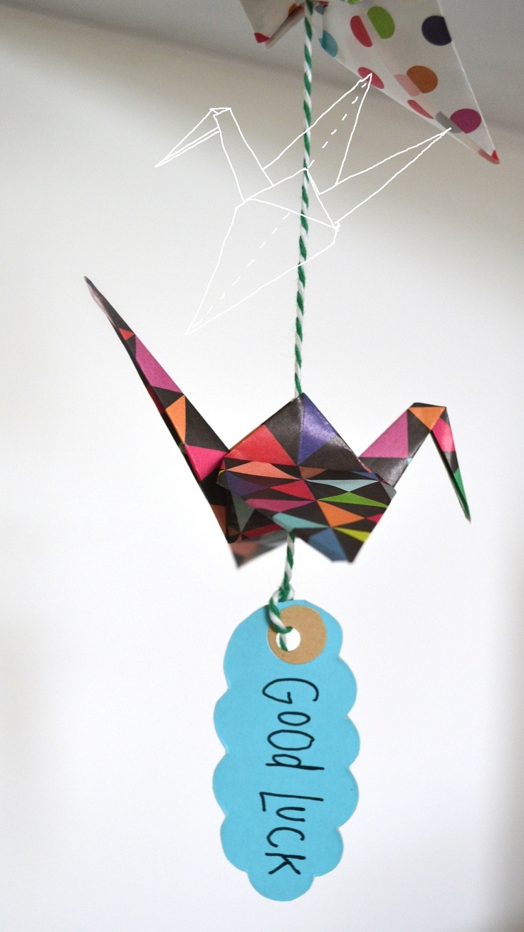 ideas about paper cranes origami cranes paper cranes tags incoming people could write their own thing on the tag