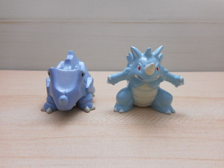 Pokemon Tomy Rhydon Rhydon Figure Set Monster Collection  #TOMY