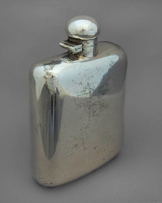 dating silver plate whiskey flask
