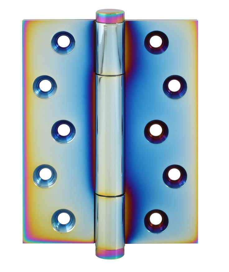 TRITECH-PVD rainbow finish. Solid brass concealed bearing hinge. Weight carrying capacity to 160kg. Suitable for heavy weight flush doors tested to BS EN 1935 grade 14. CE marked 30 & 60 min fire door rated.