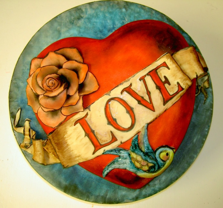 love tattoo cake....OMG...would love to recreate this!!!! I for sure have to make this one for my husband..