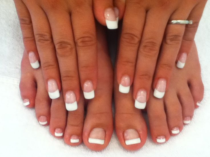 Manicure Pedicure Classic French Gel Manicure And Pedicure Beauty Hair And Makeup