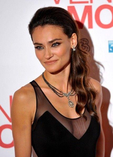 "Saadet Aksoy poses for the premiere of her new film ""Twice Born"" (aka ""Venuto al Mondo).  (November 6, 2012"